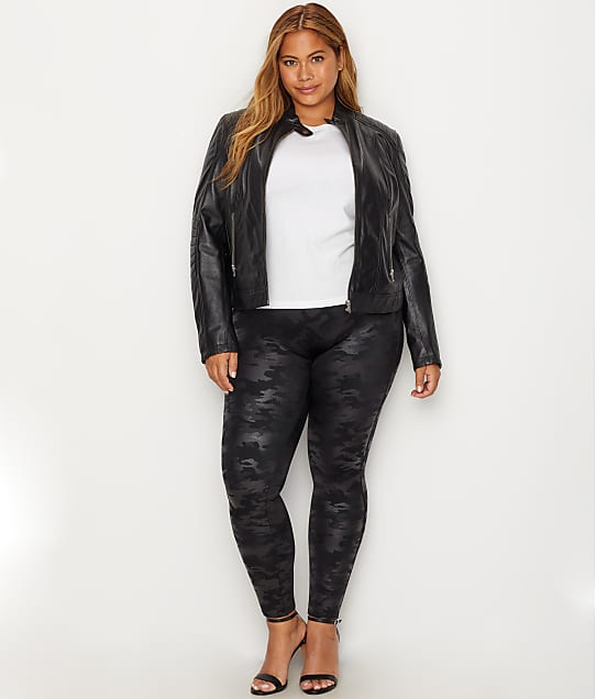 bb3e8d86c1cce SPANX Plus SIze Faux Leather Camo Leggings | Bare Necessities (20185P)
