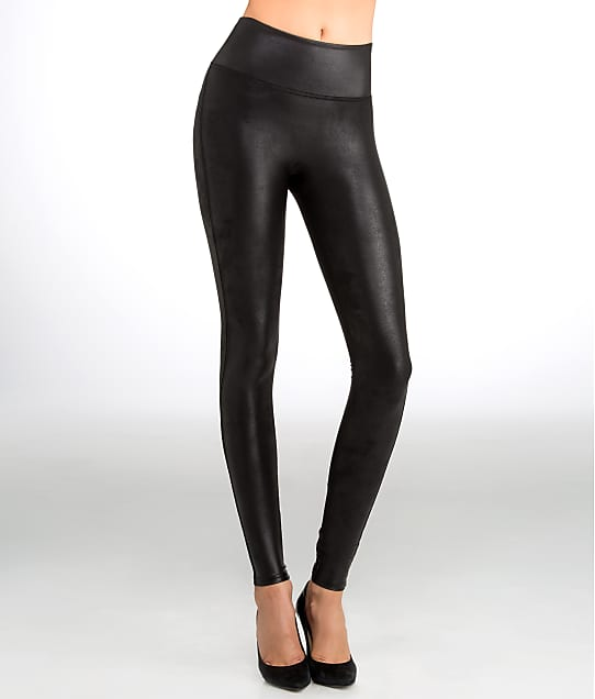 SPANX Ready-to-Wow Faux Leather Leggings in Black 2437