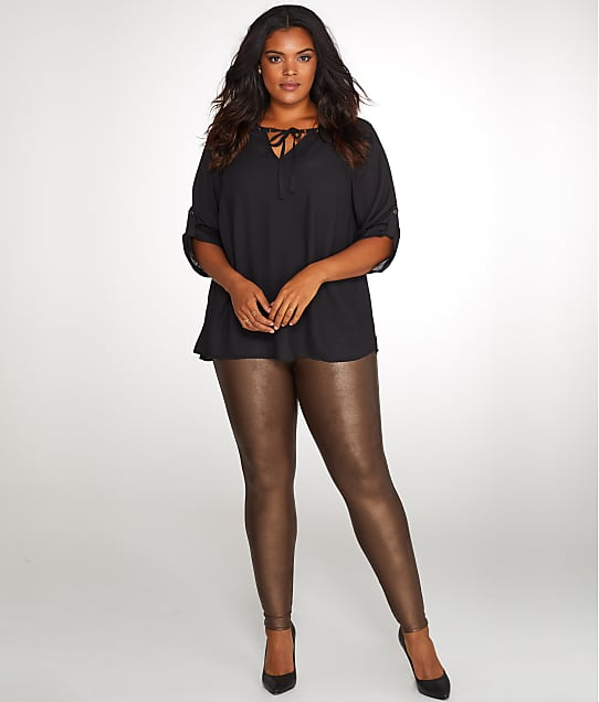 04704459d71 SPANX Plus Size Ready-to-Wow Faux Leather Leggings