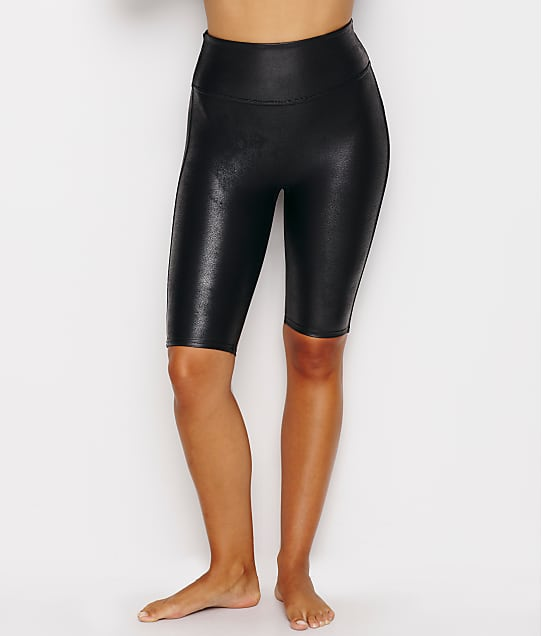 SPANX Faux Leather Bike Shorts in Black 50173R