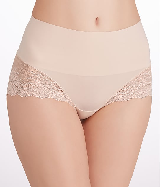 SPANX Undie-tectable Lace Hipster in Soft Nude(Front Views) SP0515