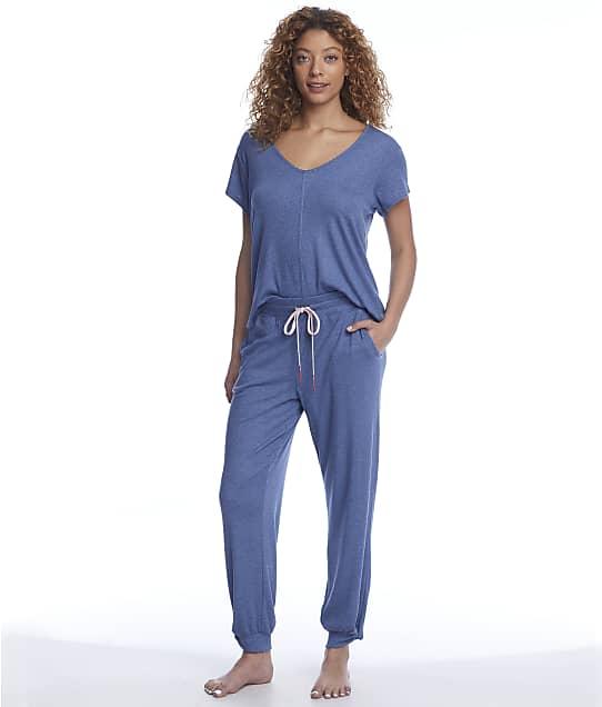 Splendid Modal T-Shirt & Jogger Pajama Set in Country Blue(Full Sets) R85D718