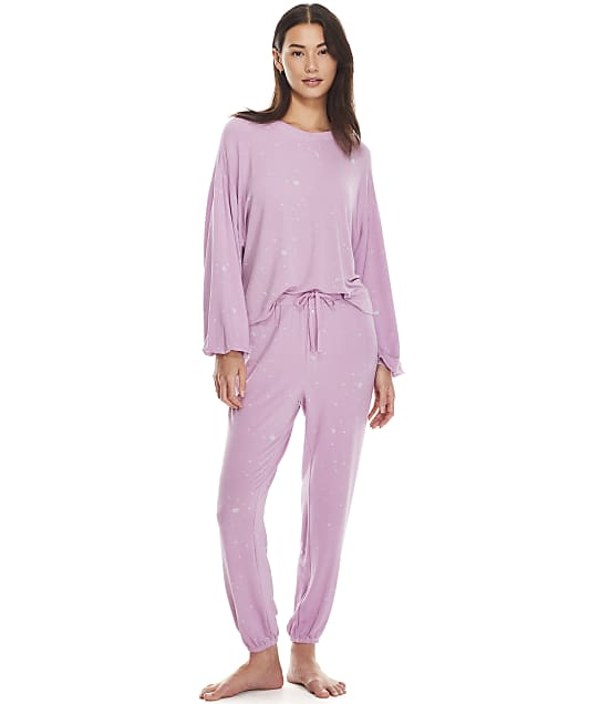 Splendid To The Moon Knit Pajama Set in Rosewater(Front Views) RFP1080S