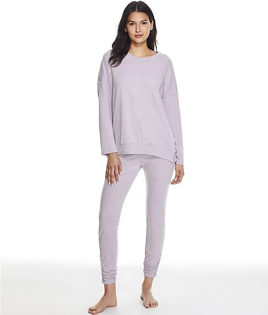 Splendid Heavenly Knit Pajama Set in Smoke Fig(Front Views) RPF1005SE