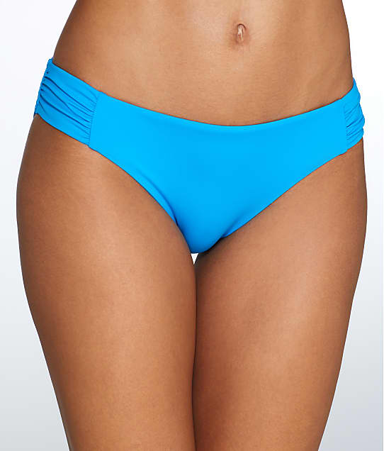 Sunsets: French Blue Shirred Bikini Bottom
