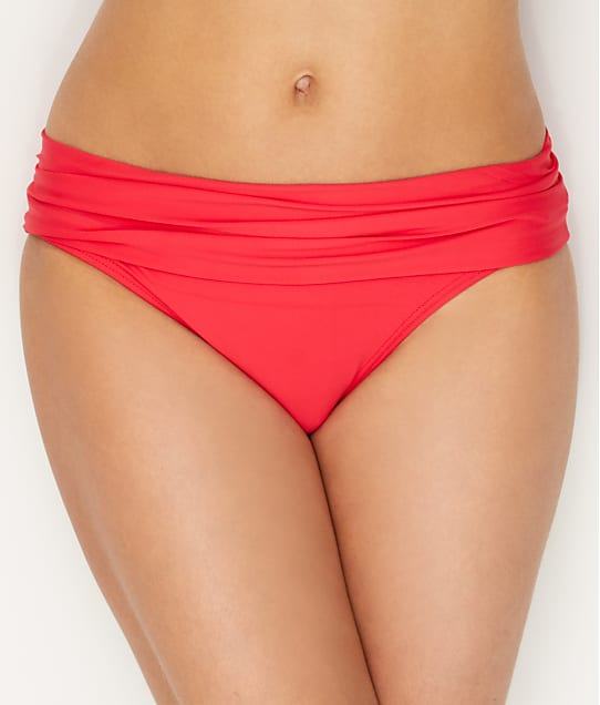 Sunsets: Lovers Coral Unforgettable Fold-Over Bikini Bottom