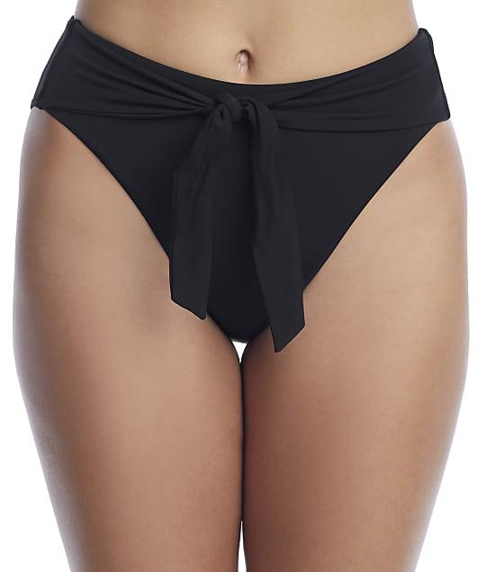 Sunsets: Black Tessie Tie High-Waist Bikini Bottom