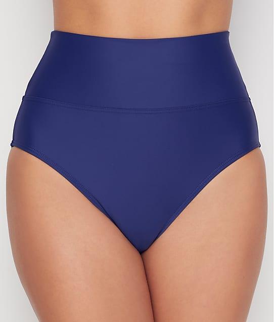 Sunsets: Indigo Fold-Over High-Waist Bikini Bottom