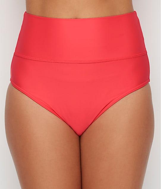 Sunsets: Nectarine Fold-Over High-Waist Bikini Bottom