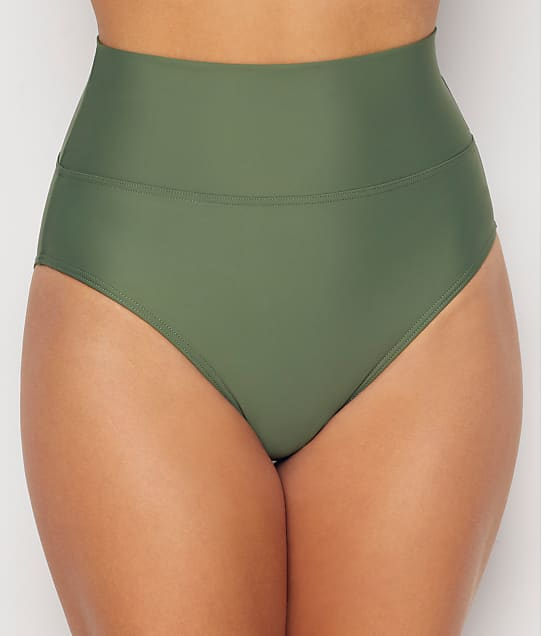 Sunsets: Olive Fold-Over High-Waist Bikini Bottom