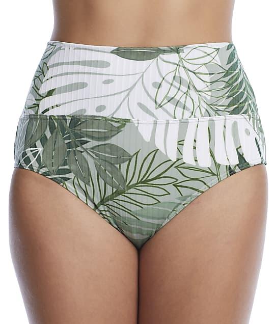 Sunsets: Palm Grove Fold-Over High-Waist Bikini Bottom