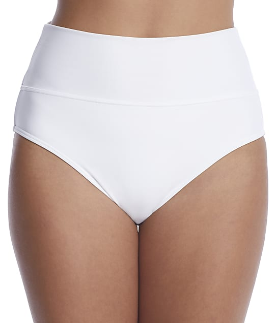Sunsets: White Fold-Over High-Waist Bikini Bottom