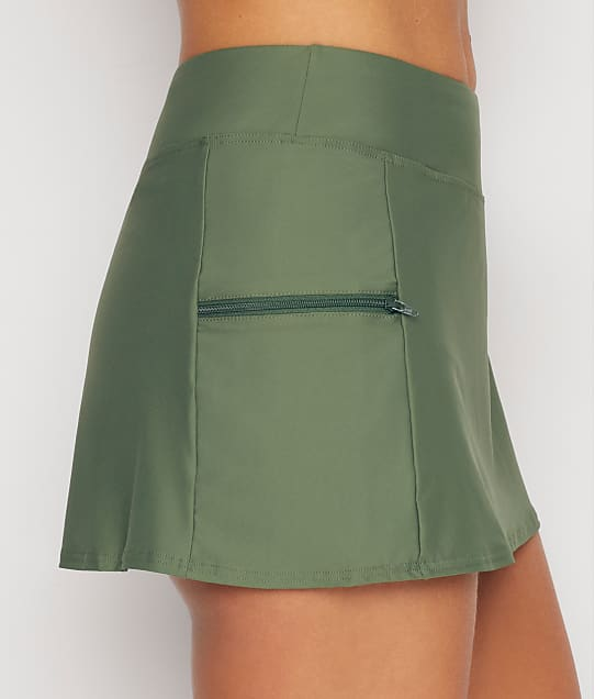 Sunsets Olive Sporty Skirted Bikini Bottom in Olive 40B-OLIVE