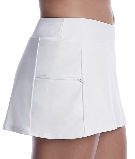 Sunsets: White Lily Sporty Skirted Bikini Bottom