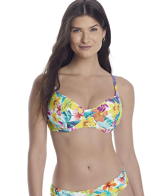 Sunsets Tropical Adventure Sweetheart Bikini Top in Tropical Adventure(Front Views) 50D-TROAD