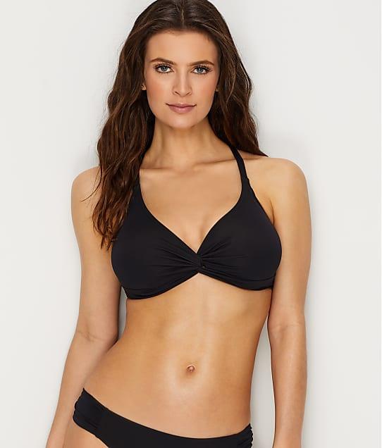 Sunsets: Black Olivia Twist Bikini Top E-H Cups