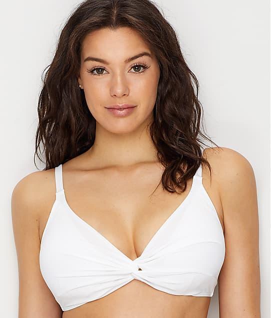 Sunsets: White Lily Olivia Twist Underwire Bikini Top E-H Cups
