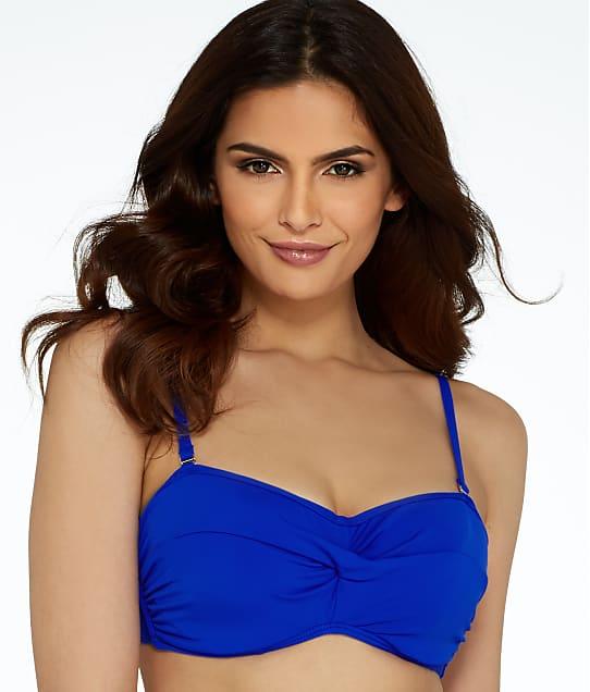Sunsets: Ultra Blue Bandeau Bikini Top D-DD Cups