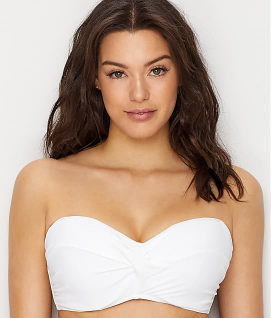 Sunsets: White Lily Iconic Twist Underwire Bikini Top D-DD Cups