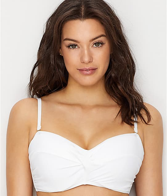 dca754c7eaa3d Sunsets White Lily Iconic Twist Underwire Bikini Top E-H Cups