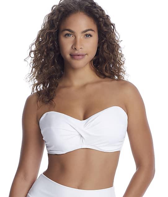 Sunsets: White Iconic Twist Bandeau Bikini Top