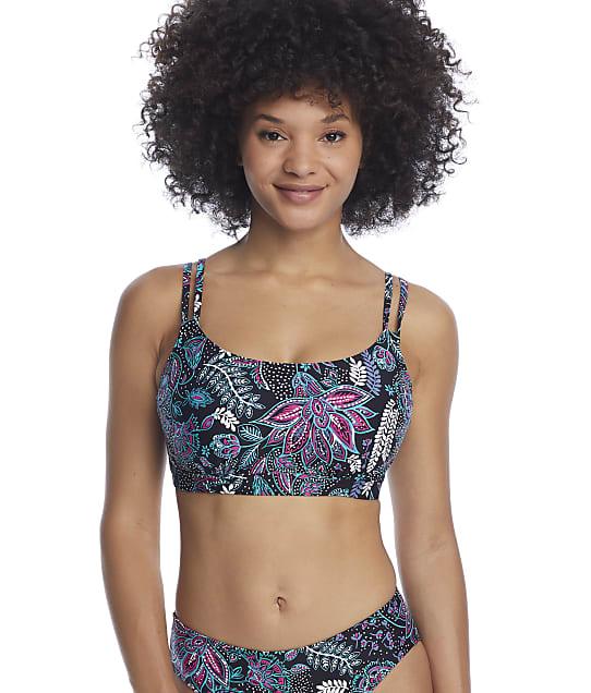 Sunsets Black Dreamscape Taylor Underwire Bralette Bikini Top in Black Dreamscape(Front Views) 56D-(BLKDR)
