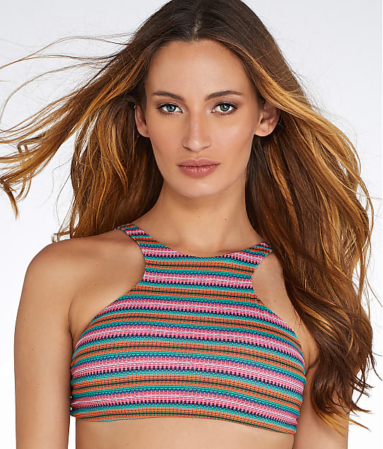 Sunsets: Lima Stripe Wire-Free Bikini Top