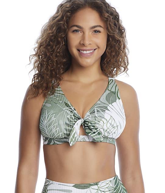 Sunsets Palm Grove Brandi Bralette Bikini Top in Palm Grove(Front Views) 68T-PALGR
