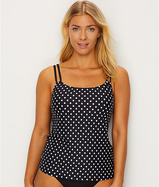 Sunsets: Black Dot Taylor Underwire Tankini Top