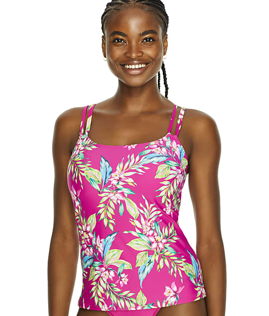 Sunsets Orchid Oasis Taylor Underwire Tankini Top in Orchid Oasis(Front Views) 75D-ORCOA