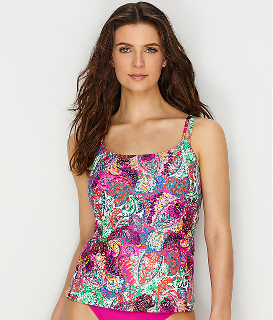 Sunsets: Paisley Peacock Taylor Underwire Tankini Top E-H Cups