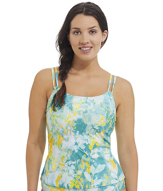 Sunsets Sea Haven Taylor Underwire Tankini Top in Sea Haven(Front Views) 75D-SEAHA