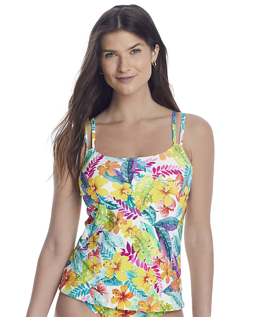 Sunsets Tropical Adventure Taylor Underwire Tankini Top in Tropical Adventure(Front Views) 75D-TROAD