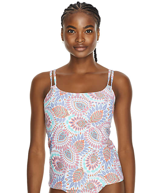 Sunsets Vivid Plumes Taylor Underwire Tankini Top in Vivid Plumes(Front Views) 75D-VIVPL