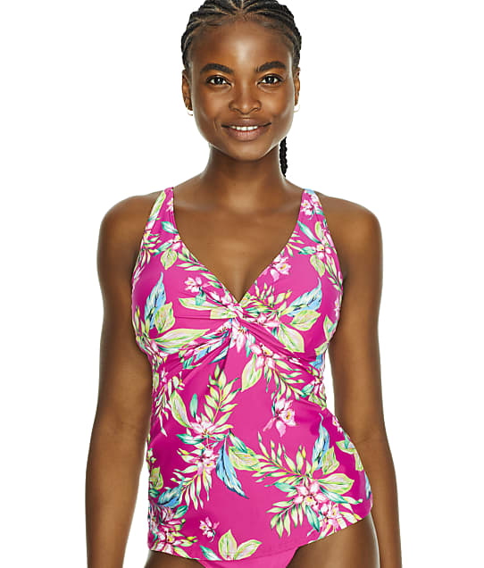 Sunsets Orchid Oasis Forever Underwire Tankini Top in Orchid Oasis(Front Views) 77D-ORCOA