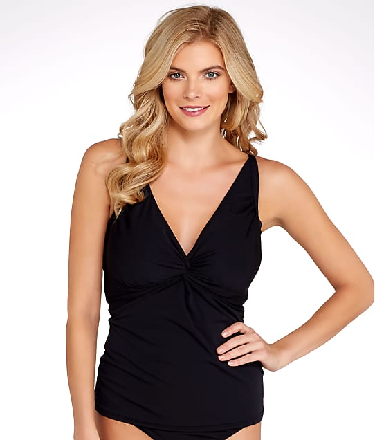 Sunsets: Black Forever Tankini Top D-DD Cups
