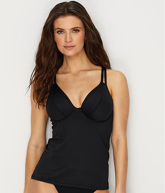 Swim Systems: Onyx Avalon Convertible Tankini Top D-DD Cups
