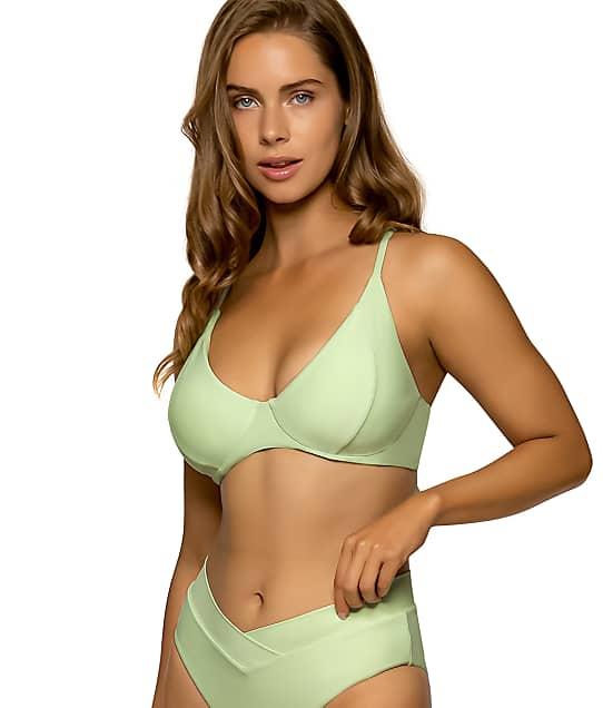 Swim Systems Cucumber Maya Underwire Bralette Bikini Top D-DD Cups in Cucumber(Front Views) T516-CUCBE