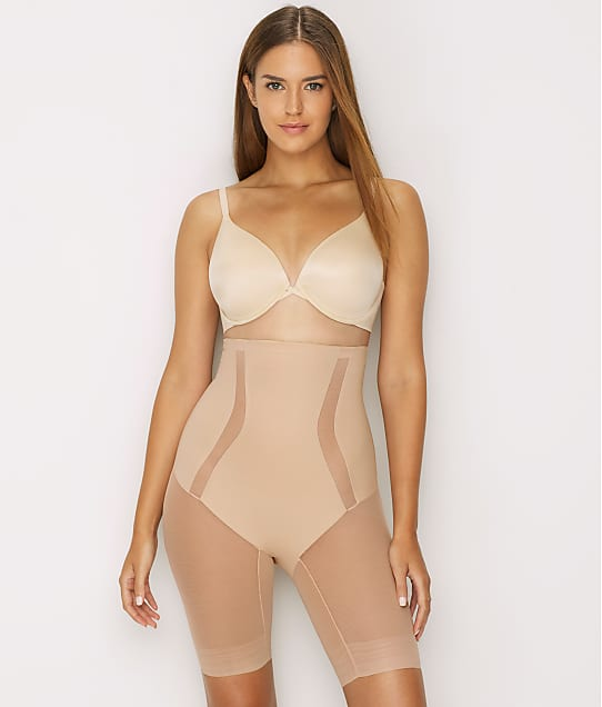 TC Fine Intimates Middle Manager Firm Control High-Waist Thigh Slimmer in Nude 4289