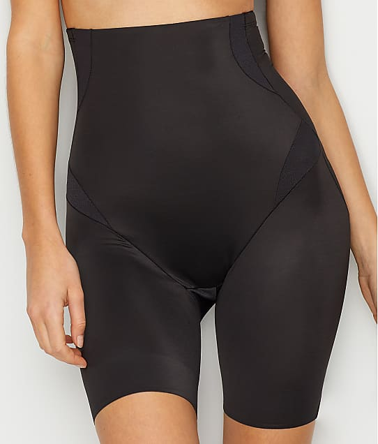 TC Fine Intimates Cool On You Firm Control Thigh Slimmer in Black 4419