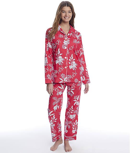 The Cat's Pajamas: Red Palms Luxe Pima Woven Pajama Set