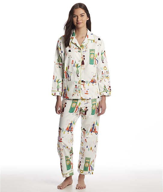 The Cat's Pajamas: Holiday Hipsters Flannel Pajama Set