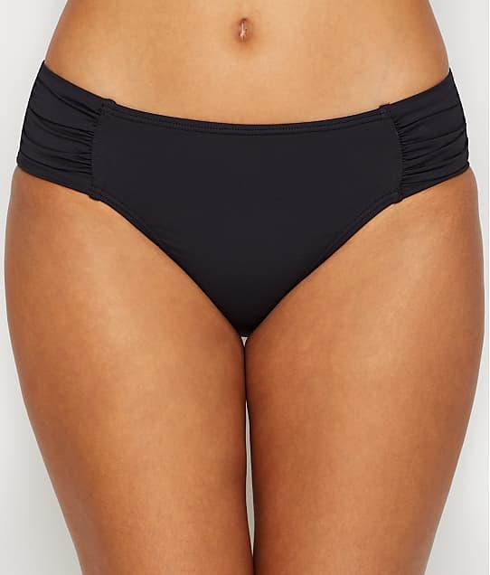 Tommy Bahama Pearl Solid Bikini Bottom in Black(Front Views) TSW31019B