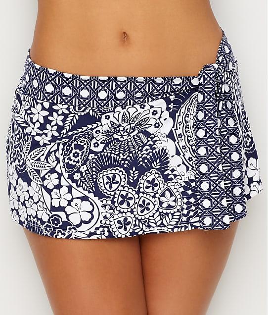 Tommy Bahama: Paisley Paradise Skirted Bikini Bottom