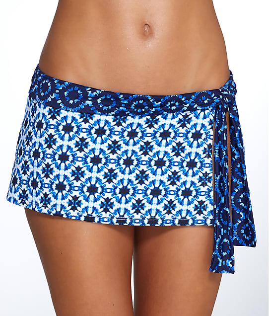 Tommy Bahama: Shibori Splash Skirted Bikini Bottoms