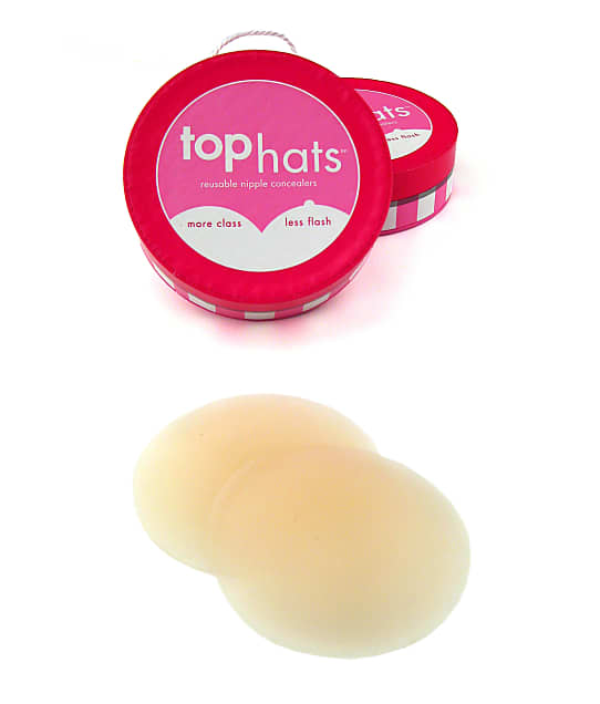 Commando Nipple Concealer Adhesives in Natural(Front Views) TOP HATS
