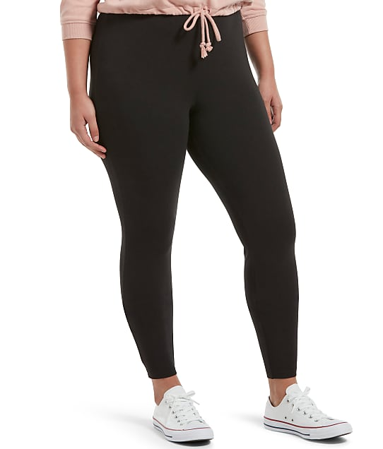 HUE: Plus Size Black Out Leggings