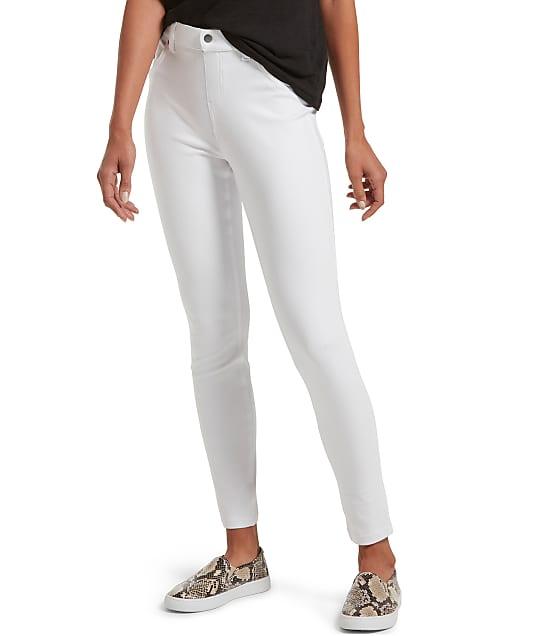 HUE High-Waist Denim Leggings in White U20652