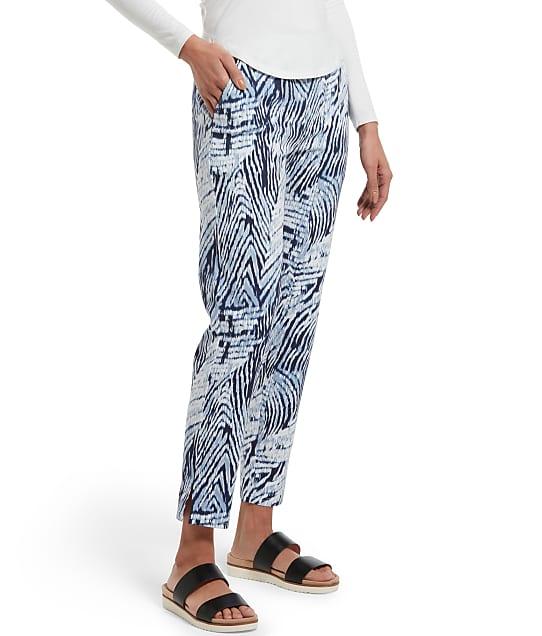 HUE: Watercolor Zebra Temp Tech Trouser Pants