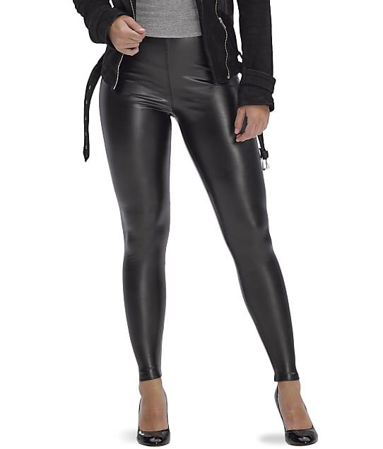 HUE: Leatherette High-Waist Leggings